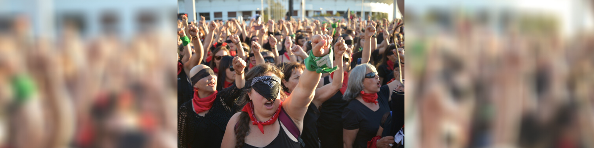 feministes, manifestation, vert, IVG, Argentine