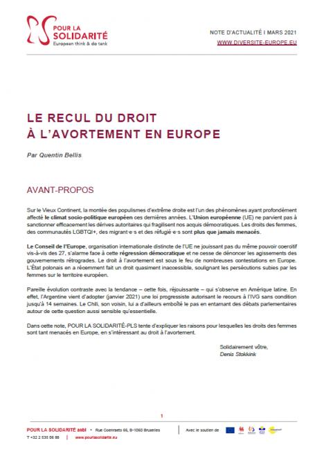 recul avortement europe